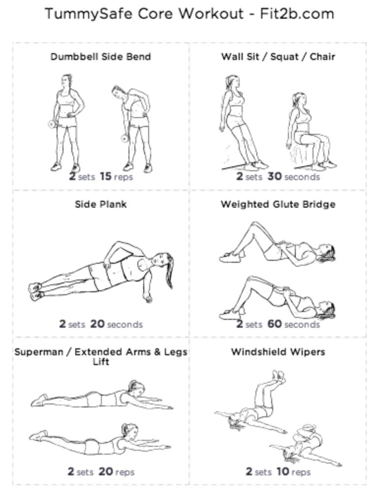 cwiczenia przy rozstepie brzucha-core