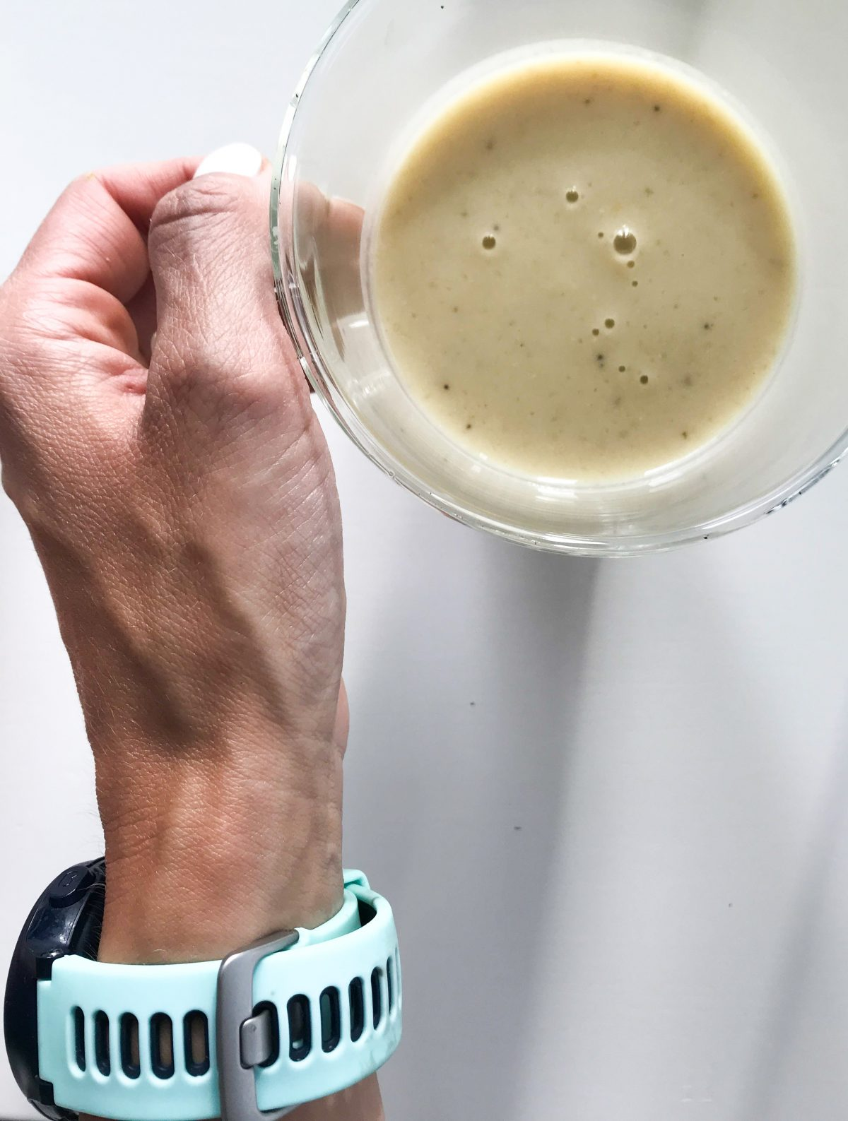 koktajl po treningu  białkowy ananasowy z tofu