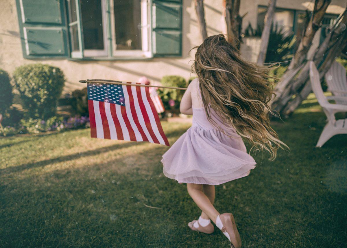 z dzieckiem w USA
